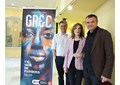 Cesc Casadesús, Amaya de Miguel y Ernesto Caballero durante la presentación en Madrid de la programación del Festival Grec 2019