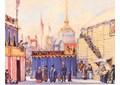 Escenografía para Petroushka, de Alexander Benois. 1911