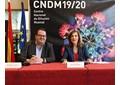 Amaya de Miguel y Francisco Lorenzo durante la presentación de la nueva temporada del CNDM en el Auditorio