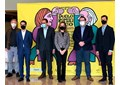 Foto de familia durante la presentación del maratón bienal del CNDM en el Auditorio Nacional